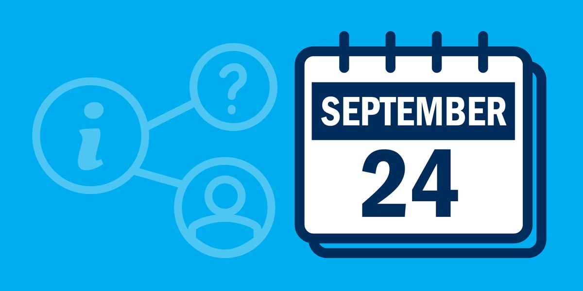 Calendar icon with reminder tax due date September 24, 2021