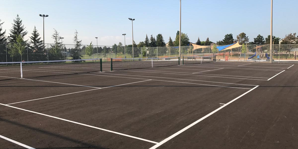 Tennis courts in Whitby